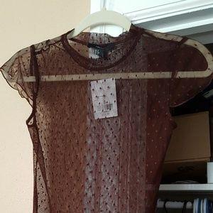 Sheer Brown Bodysuit -- Brand New!